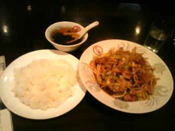 十八番亭レバ野菜炒めライス(<br />  500円)