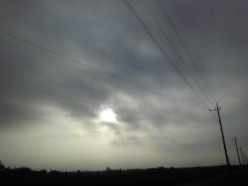 毎朝曇り空
