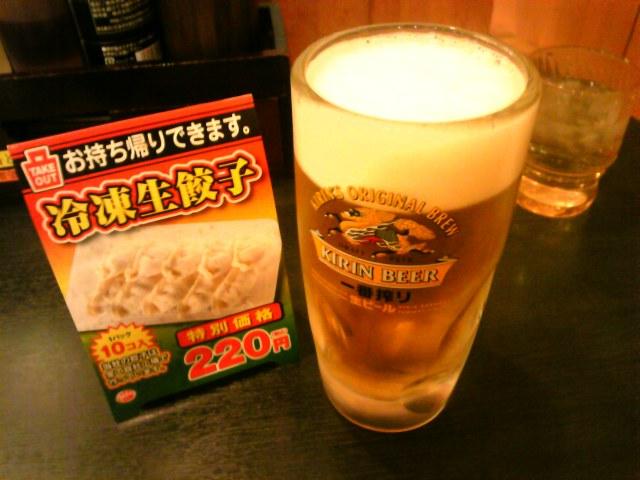 日高屋、稲毛店にて独り酒