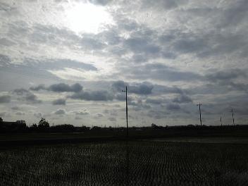 南風の吹く朝は曇り空