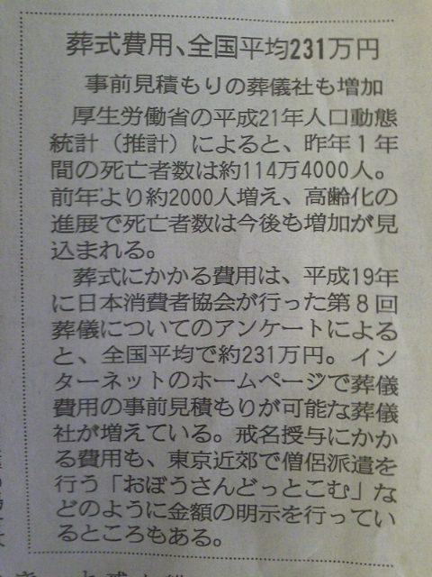 葬儀費用、全国平均、231万円